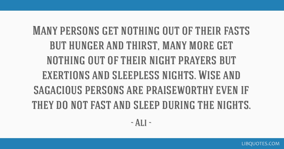 FASTING to Hunger and Thirst No More