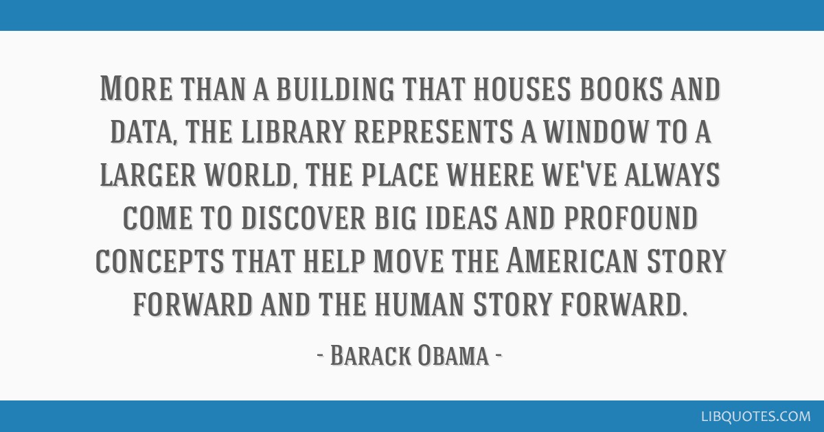 More than a building that houses books and data, the library represents a window to a larger world, the place where we've always come to discover big ...