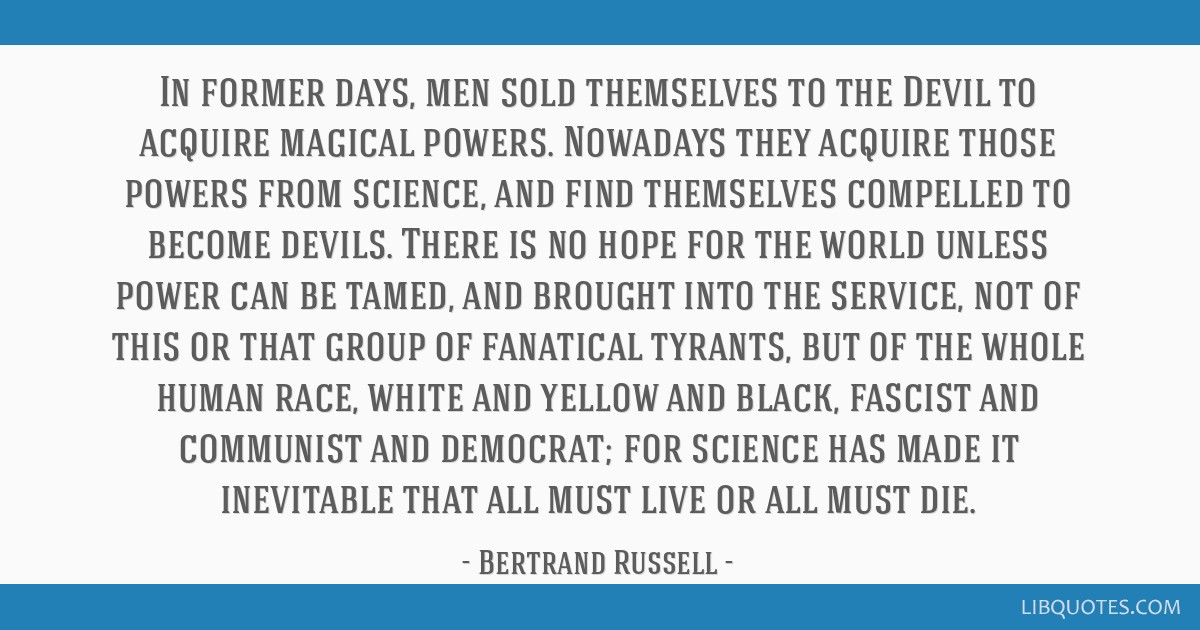 In former days, men sold themselves to the Devil to acquire magical powers. Nowadays they acquire those powers from science, and find themselves...
