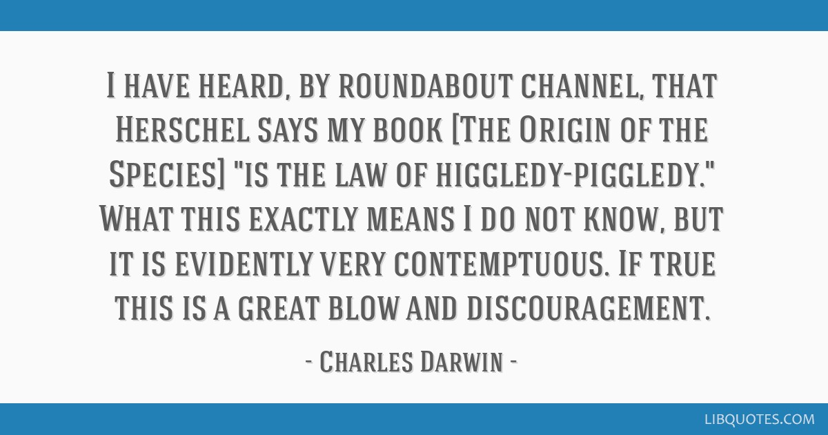 I Have Heard By Roundabout Channel That Herschel Says My Book The