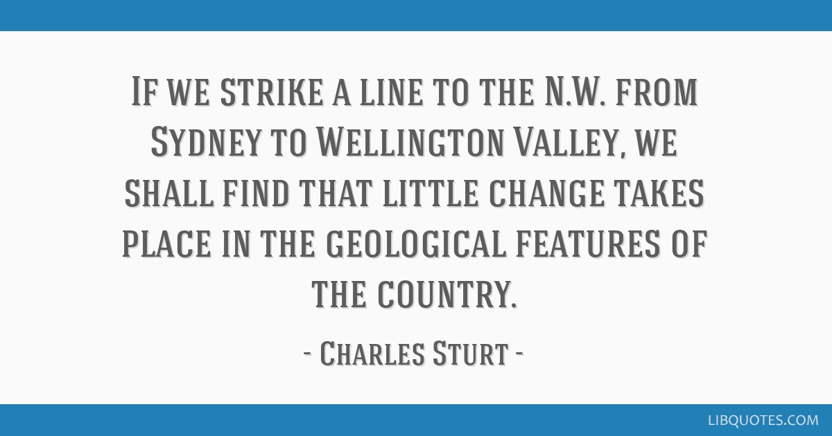 If we strike a line to the N.W. from Sydney to Wellington Valley, we shall find that little change takes place in the geological features of the...