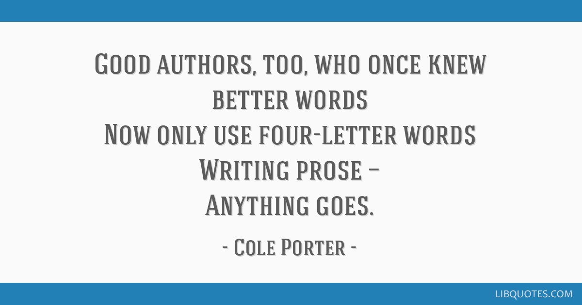 quotes about cole porter