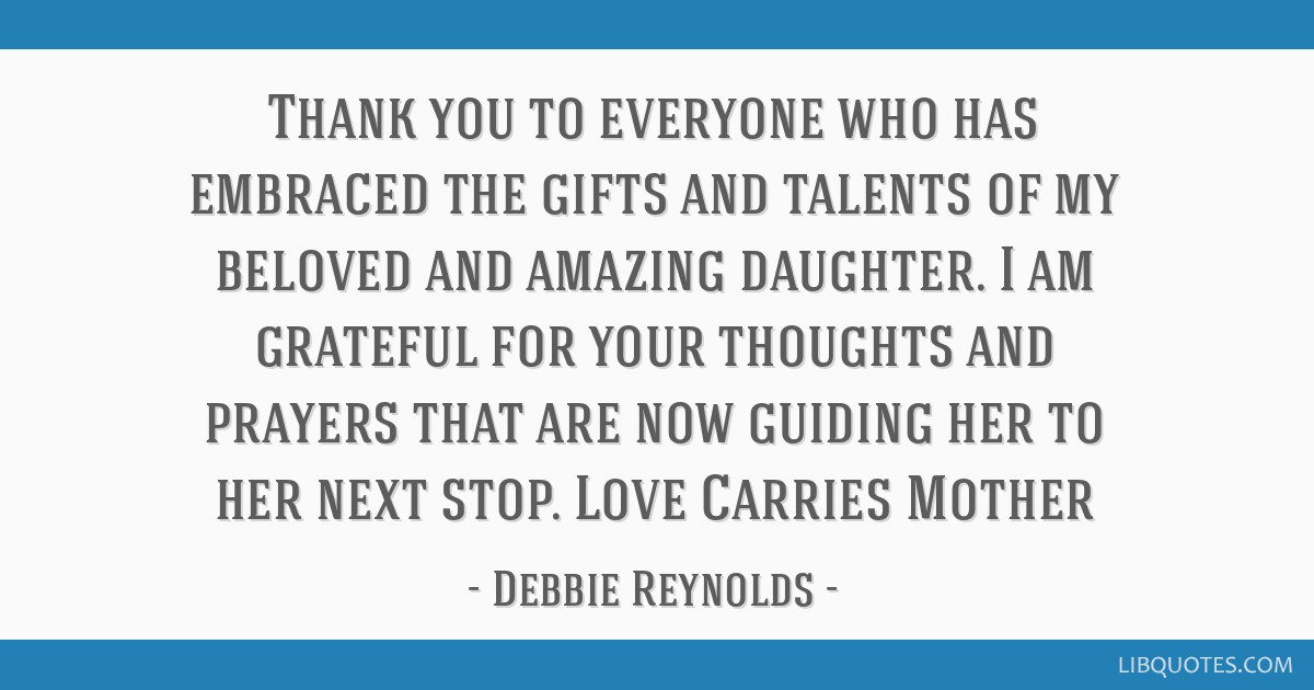 Thank You To Everyone Who Has Embraced The Gifts And Talents Of My