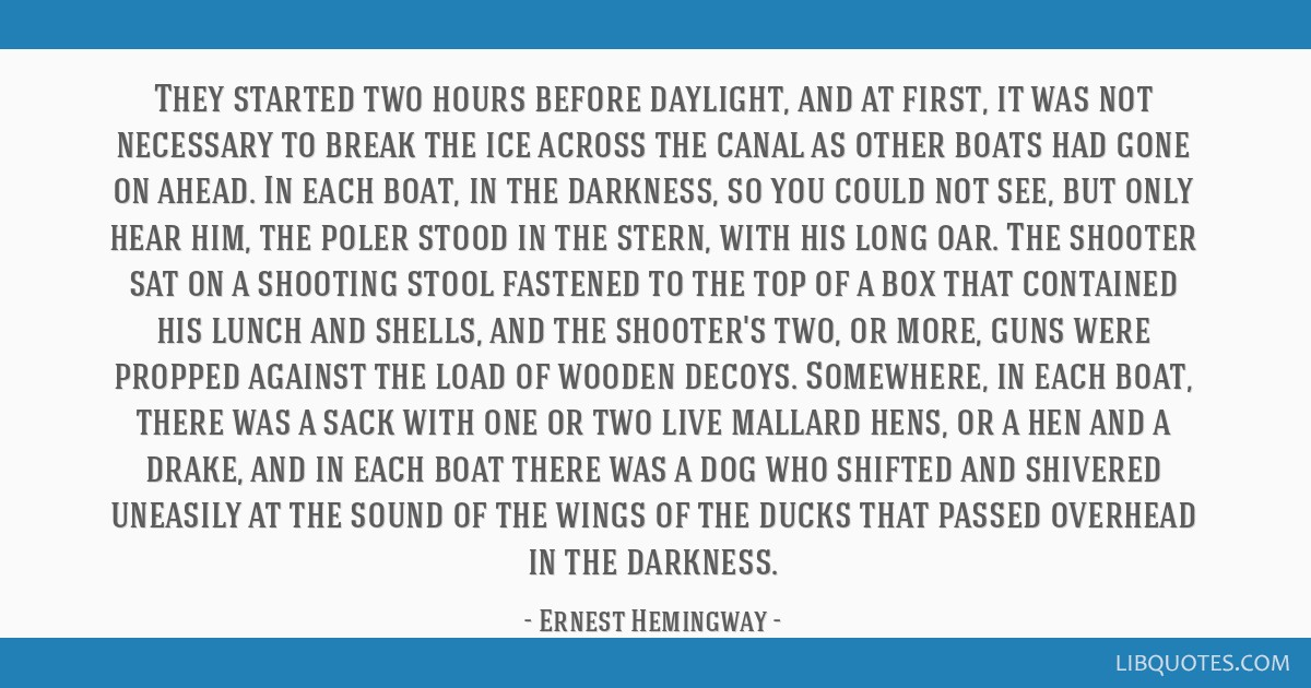 They started two hours before daylight, and at first, it was not necessary to break the ice across the canal as other boats had gone on ahead. In...