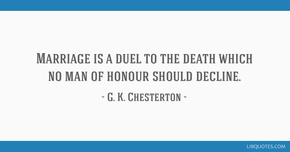 Gk chesterton on marriage