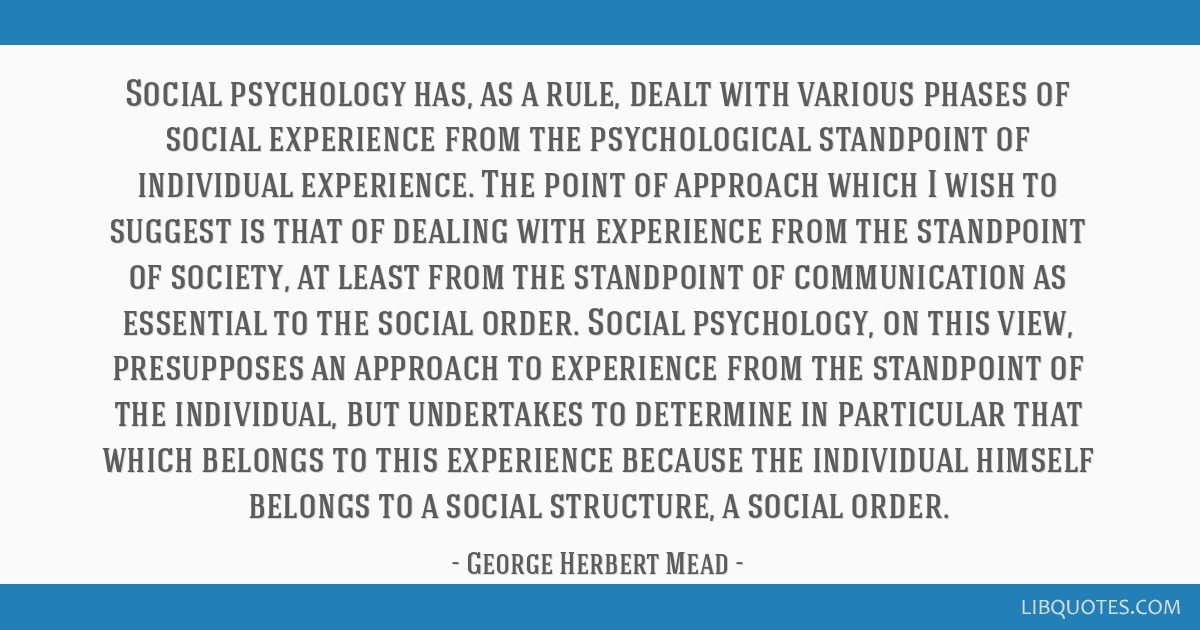 Social psychology has, as a rule, dealt with various phases of social experience from the psychological standpoint of individual experience. The...