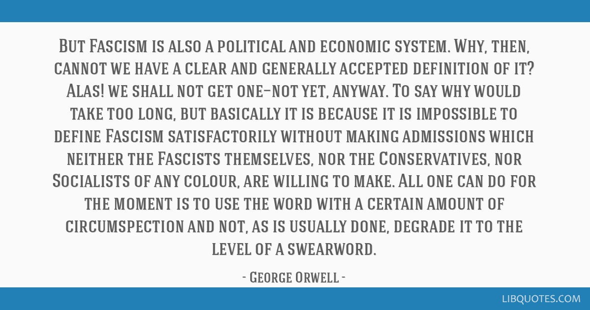 But Fascism is also a political and economic system  Why