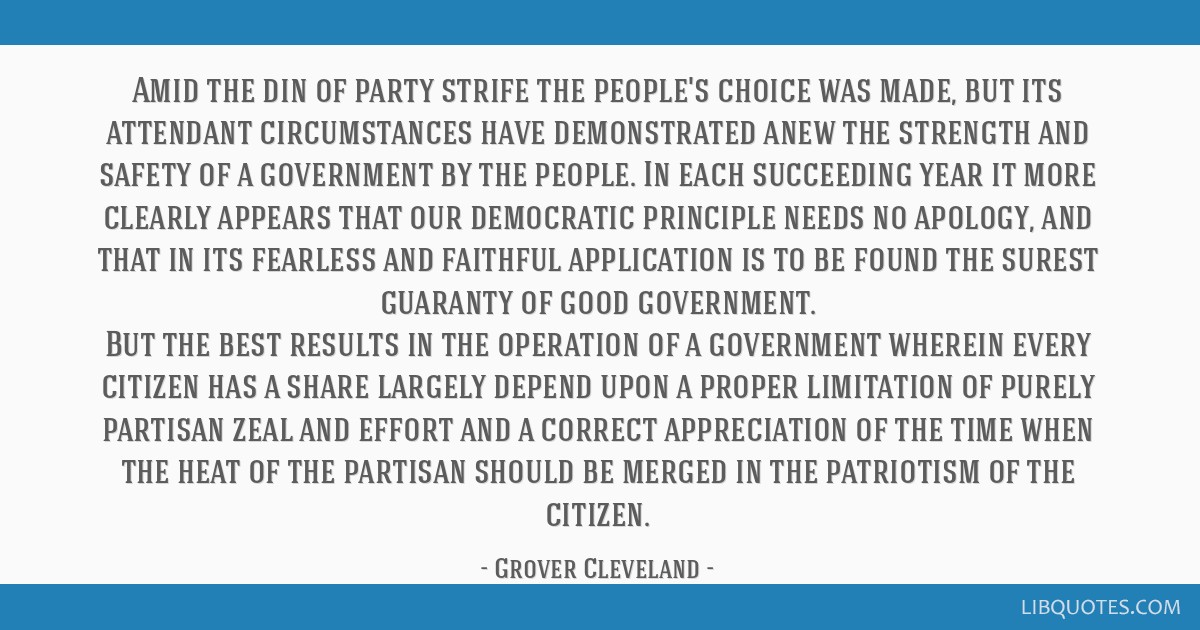 Amid the din of party strife the people's choice was made, but its attendant circumstances have demonstrated anew the strength and safety of a...