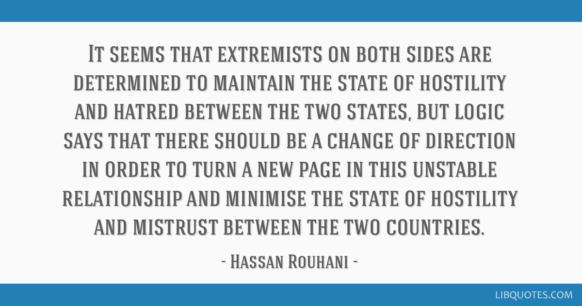 It seems that extremists on both sides are determined to ...