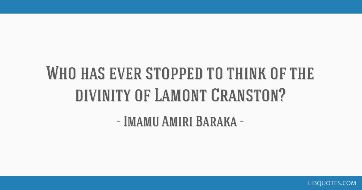 Who has ever stopped to think of the divinity of Lamont Cranston?