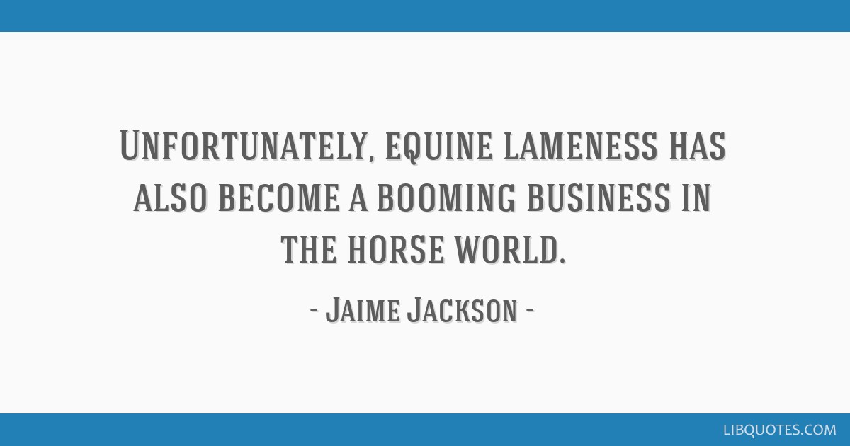Unfortunately, equine lameness has also become a booming business in the horse world.