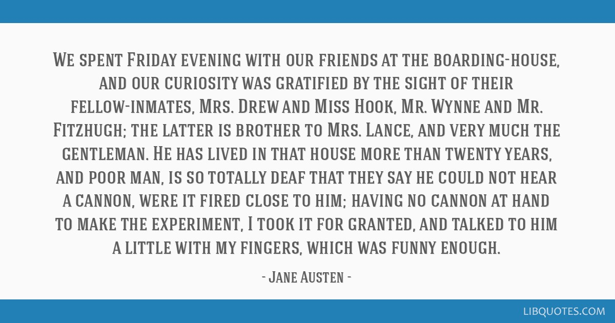 We spent Friday evening with our friends at the boarding-house, and our curiosity was gratified by the sight of their fellow-inmates, Mrs. Drew and...