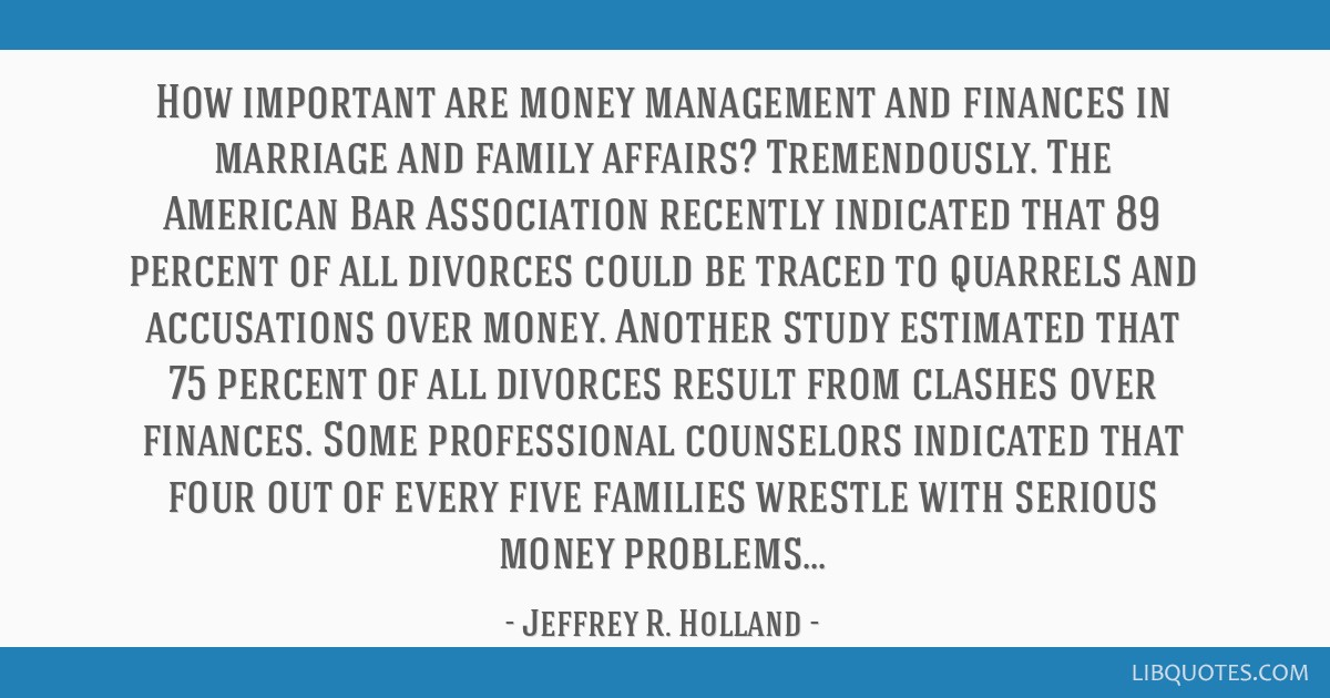 How Important Are Money Management And Finances In Marriage And