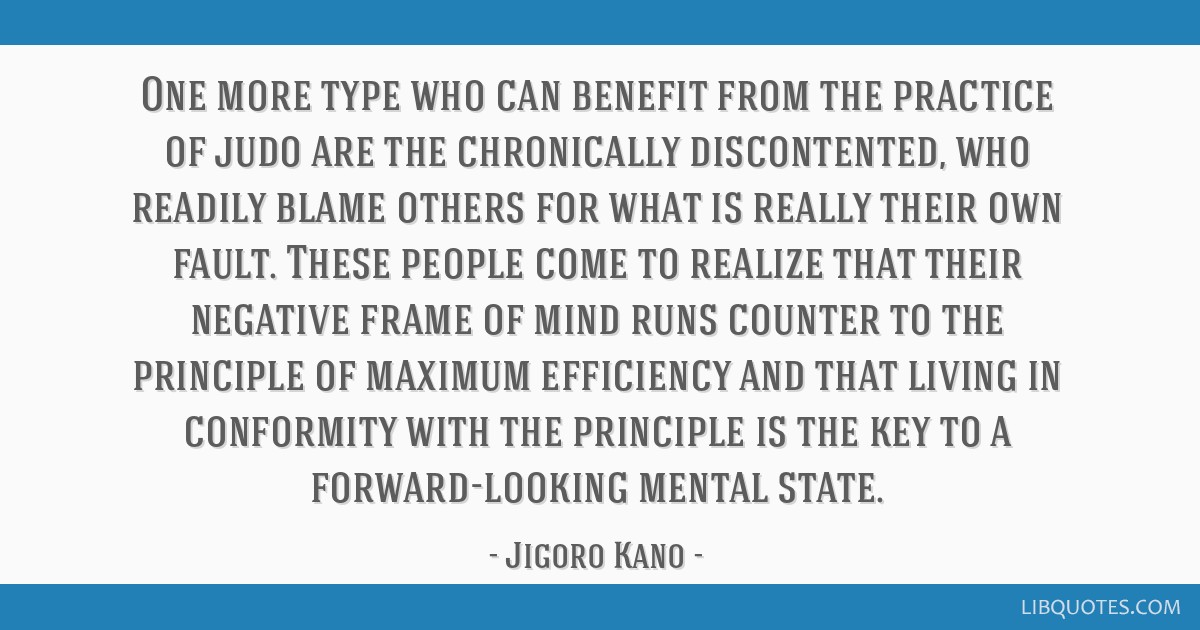 One more type who can benefit from the practice of judo are the ...