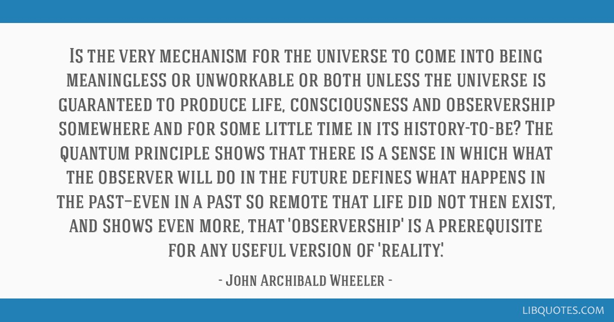 Is the very mechanism for the universe to come into being meaningless or unworkable or both unless the universe is guaranteed to produce life,...