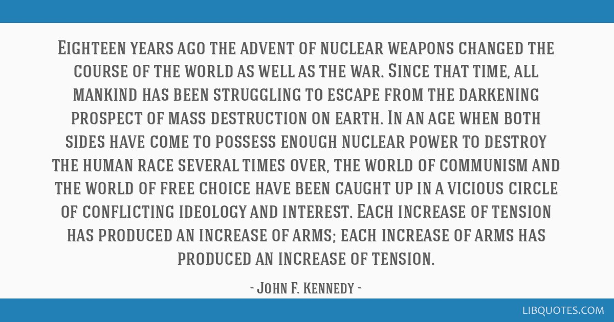 Eighteen years ago the advent of nuclear weapons changed the course of the world as well as the war. Since that time, all mankind has been struggling ...