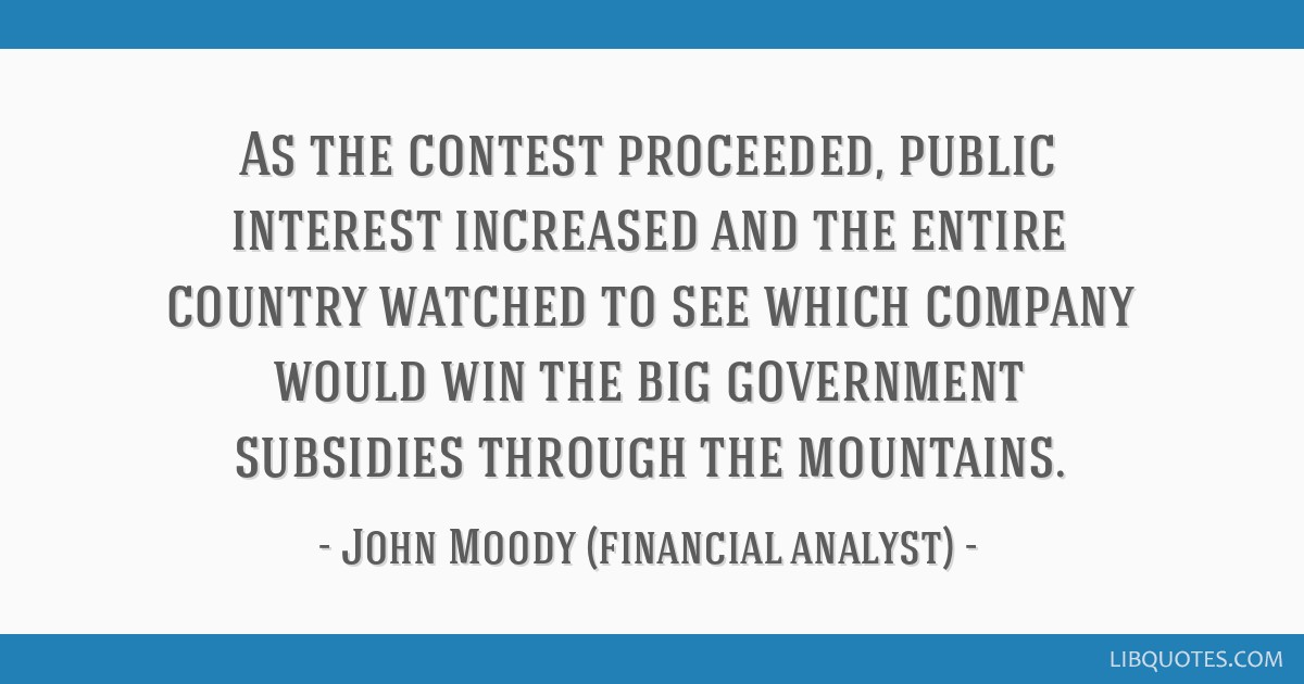 As the contest proceeded, public interest increased and the entire country watched to see which company would win the big government subsidies...