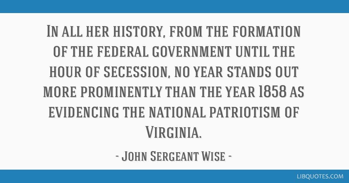 In all her history, from the formation of the federal government until the hour of secession, no year stands out more prominently than the year 1858...