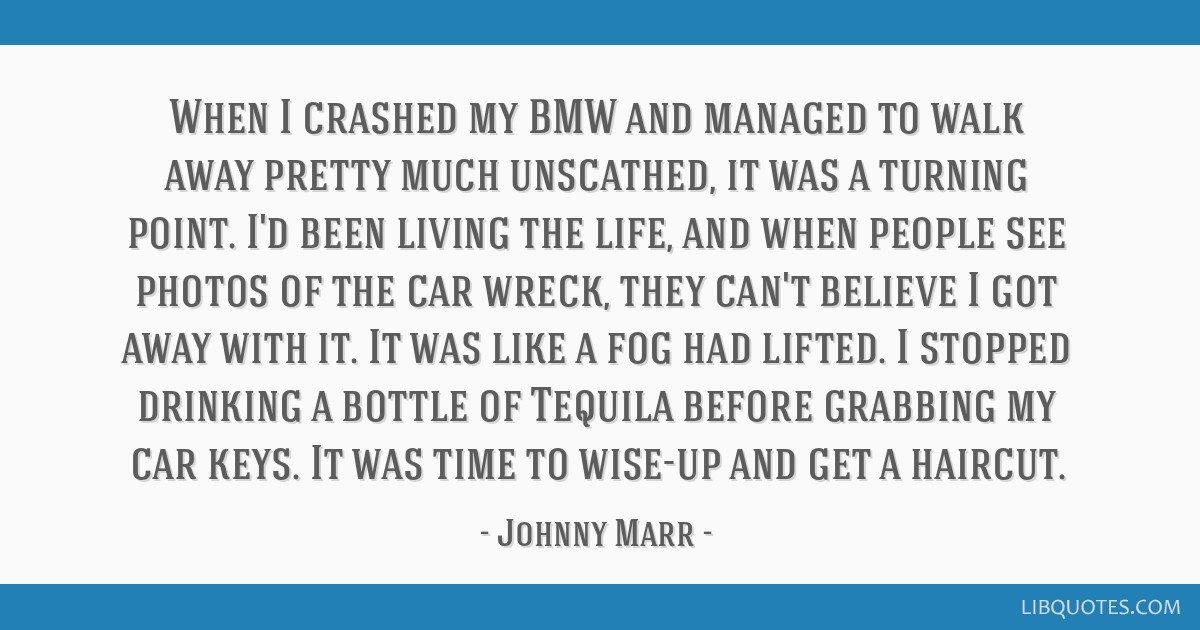 When I crashed my BMW and managed to walk away pretty much unscathed, it was a turning point. I'd been living the life, and when people see photos of ...