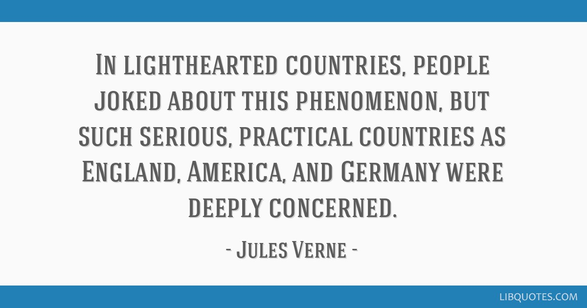 In lighthearted countries, people joked about this phenomenon, but such serious, practical countries as England, America, and Germany were deeply...