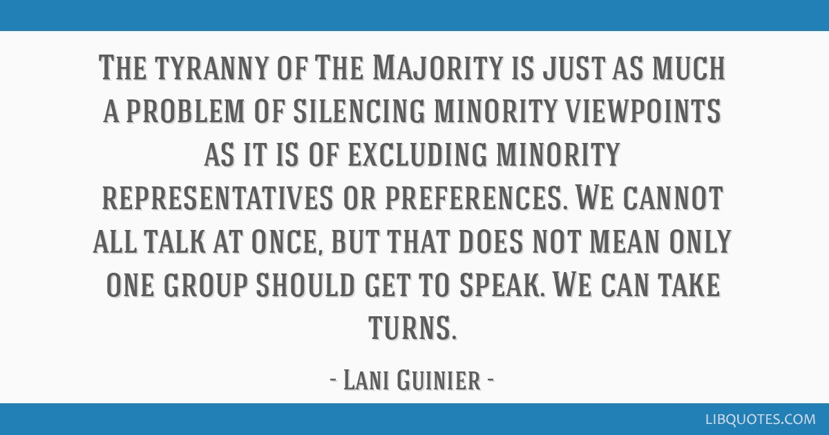 lani guinier the tyranny of the majority