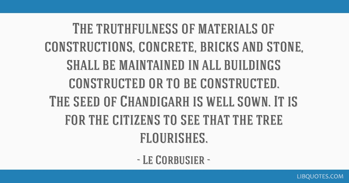 The truthfulness of materials of constructions, concrete, bricks and stone, shall be maintained in all buildings constructed or to be constructed....