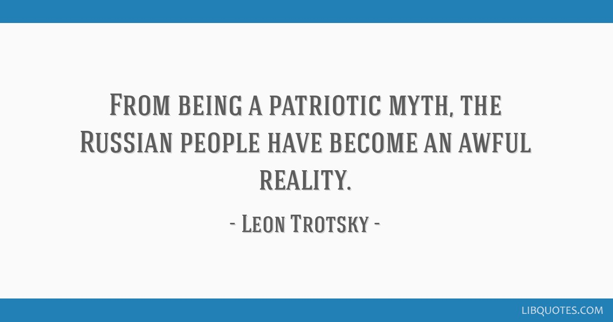 From being a patriotic myth, the Russian people have become an awful reality.
