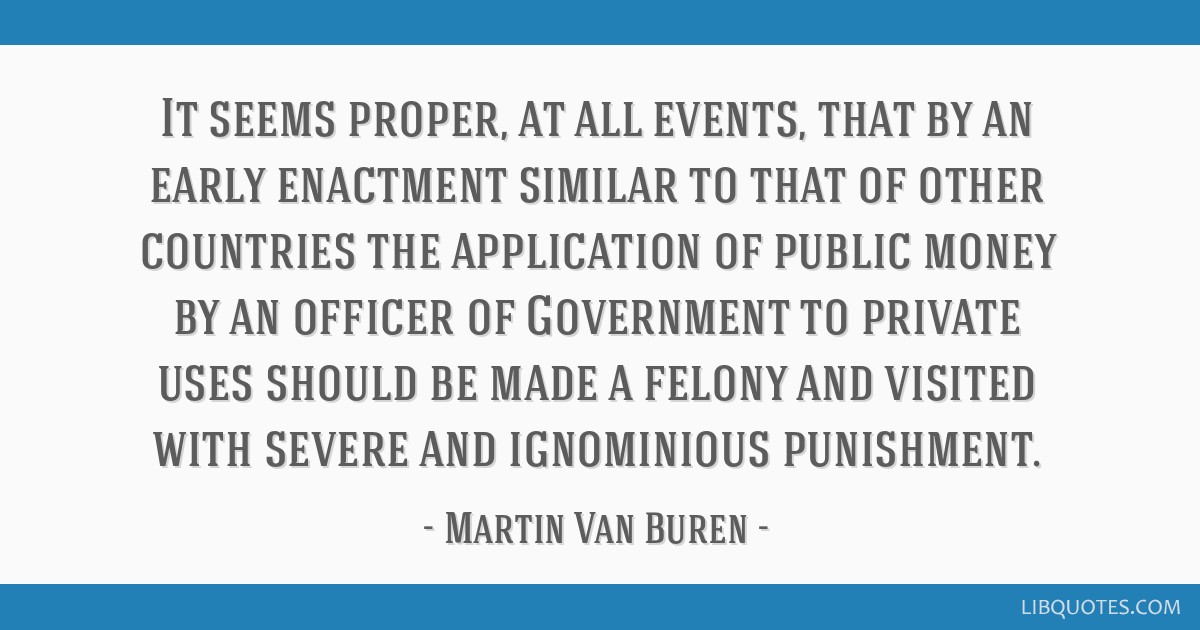 It seems proper, at all events, that by an early enactment similar to that of other countries the application of public money by an officer of...