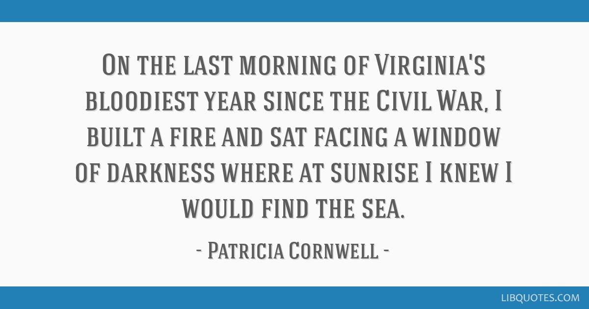 On the last morning of Virginia's bloodiest year since the Civil War, I built a fire and sat facing a window of darkness where at sunrise I knew I...