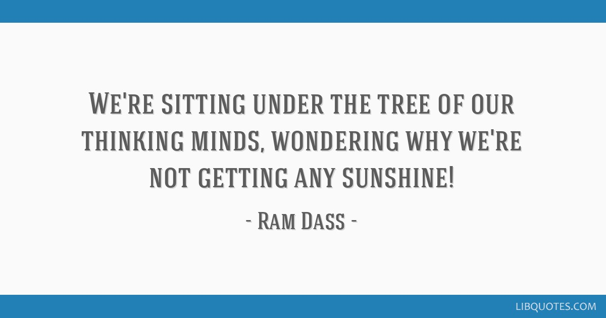 Were Sitting Under The Tree Of Our Thinking Minds Wondering Why We