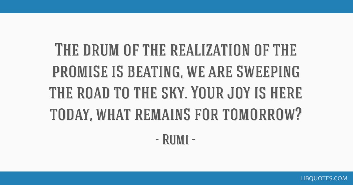 The drum of the realization of the promise is beating, we are sweeping the road to the sky. Your joy is here today, what remains for tomorrow?