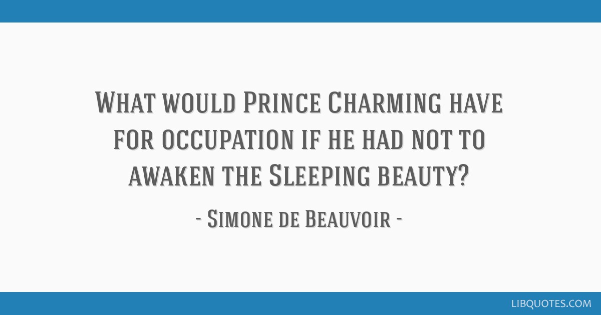What would Prince Charming have for occupation if he had not ...