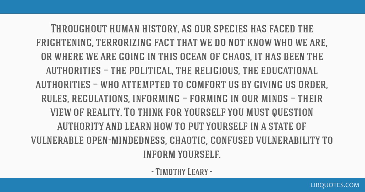 Throughout human history, as our species has faced the frightening, terrorizing fact that we do not know who we are, or where we are going in this...