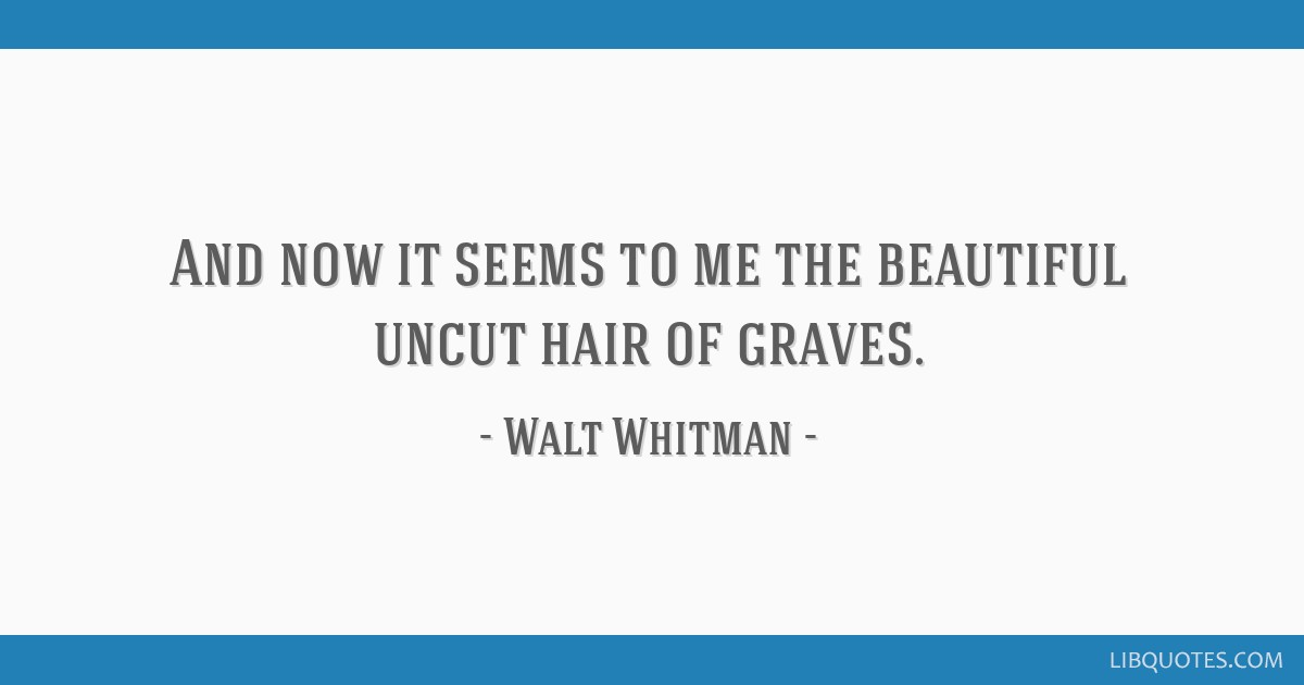 the beautiful uncut hair of graves