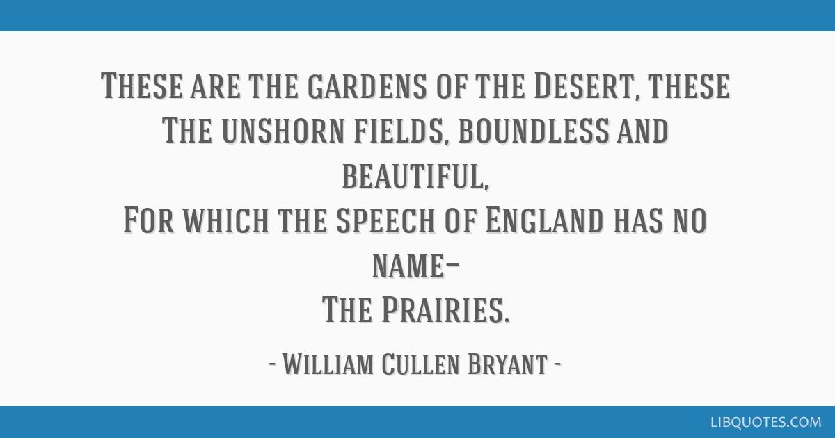 the prairies william cullen bryant