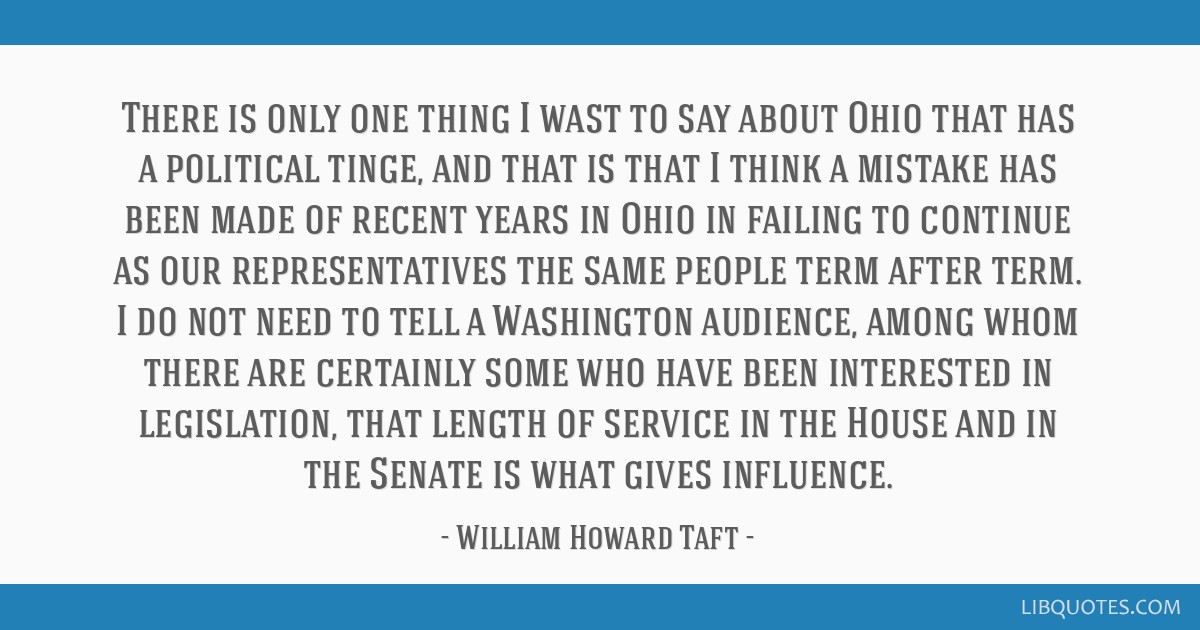There is only one thing I wast to say about Ohio that has a political tinge, and that is that I think a mistake has been made of recent years in Ohio ...