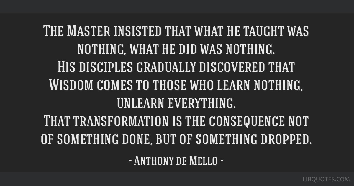 The Master insisted that what he taught was nothing, what he did was nothing. His disciples gradually discovered that Wisdom comes to those who learn ...