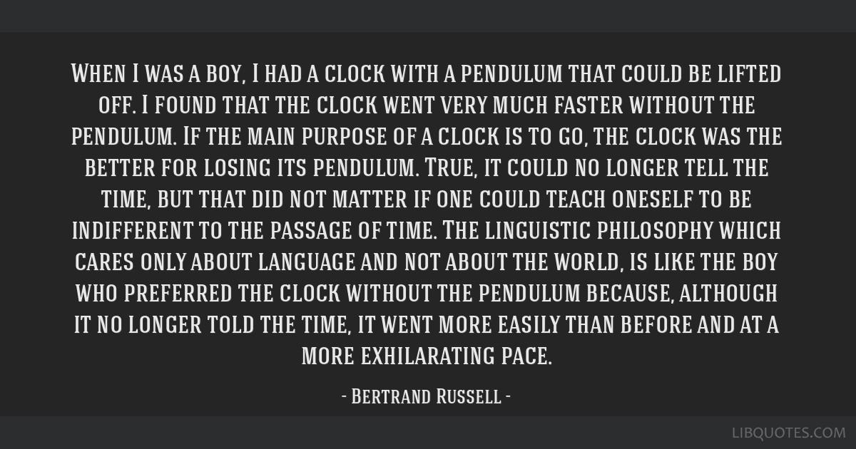 When I was a boy, I had a clock with a pendulum that could be lifted off. I found that the clock went very much faster without the pendulum. If the...