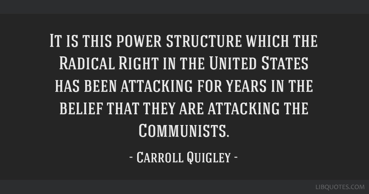 It is this power structure which the Radical Right in the United States has been attacking for years in the belief that they are attacking the...