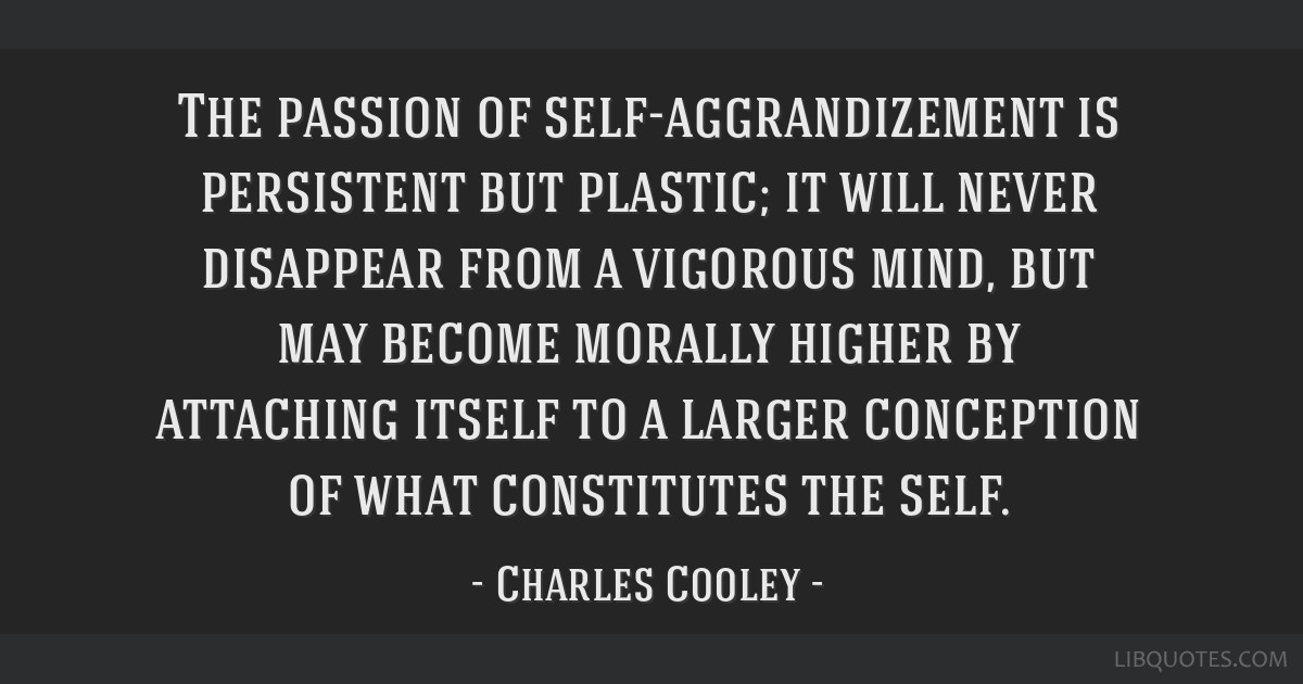 The passion of self-aggrandizement is persistent but plastic; it will never disappear from a vigorous mind, but may become morally higher by...