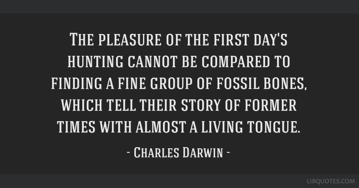 The pleasure of the first day's hunting cannot be compared to finding a fine group of fossil bones, which tell their story of former times with...