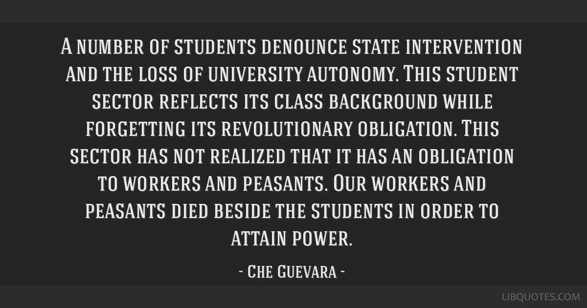 A number of students denounce state intervention and the loss of university autonomy. This student sector reflects its class background while...