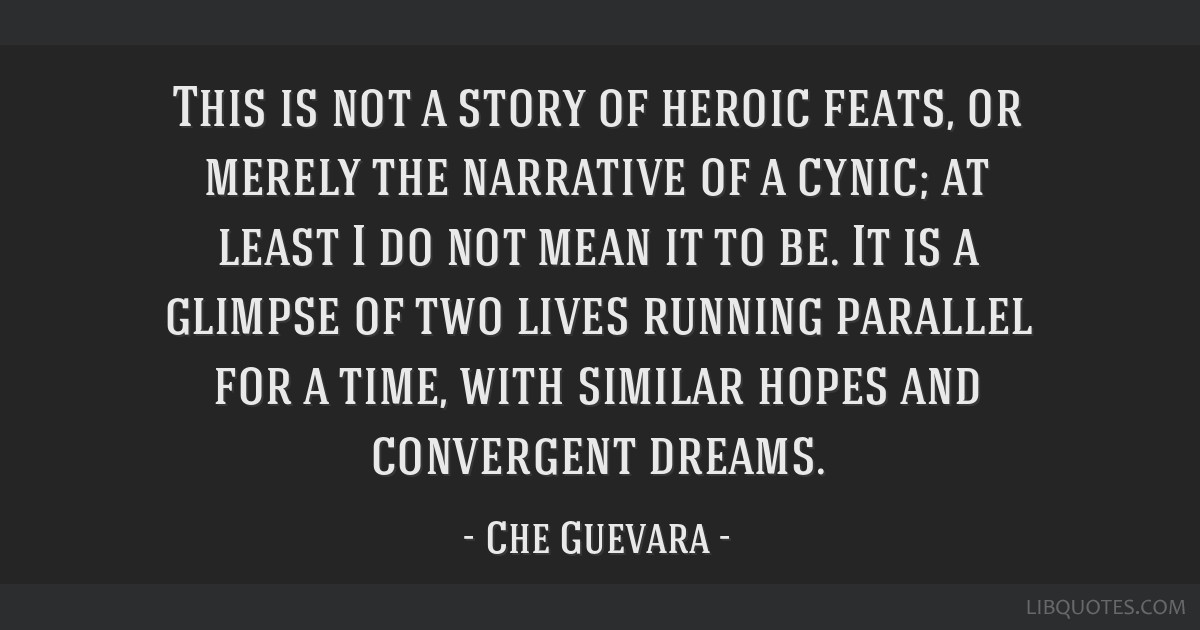 This is not a story of heroic feats, or merely the narrative of a cynic; at least I do not mean it to be. It is a glimpse of two lives running...