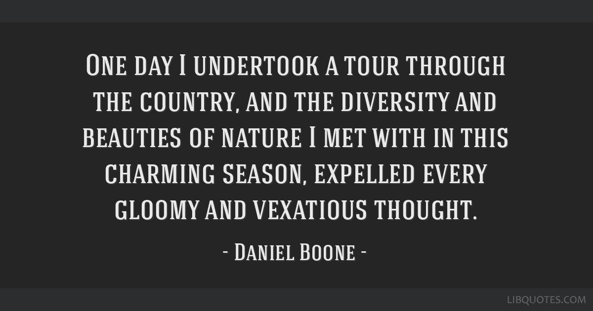One day I undertook a tour through the country, and the diversity and beauties of nature I met with in this charming season, expelled every gloomy...
