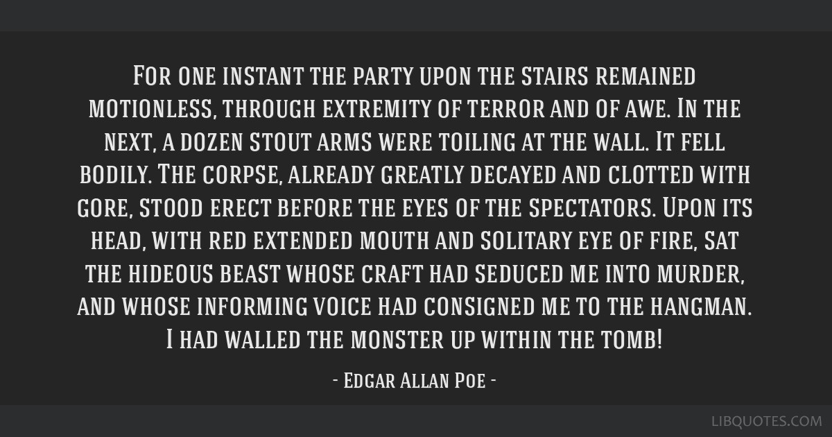 For one instant the party upon the stairs remained motionless, through extremity of terror and of awe. In the next, a dozen stout arms were toiling...