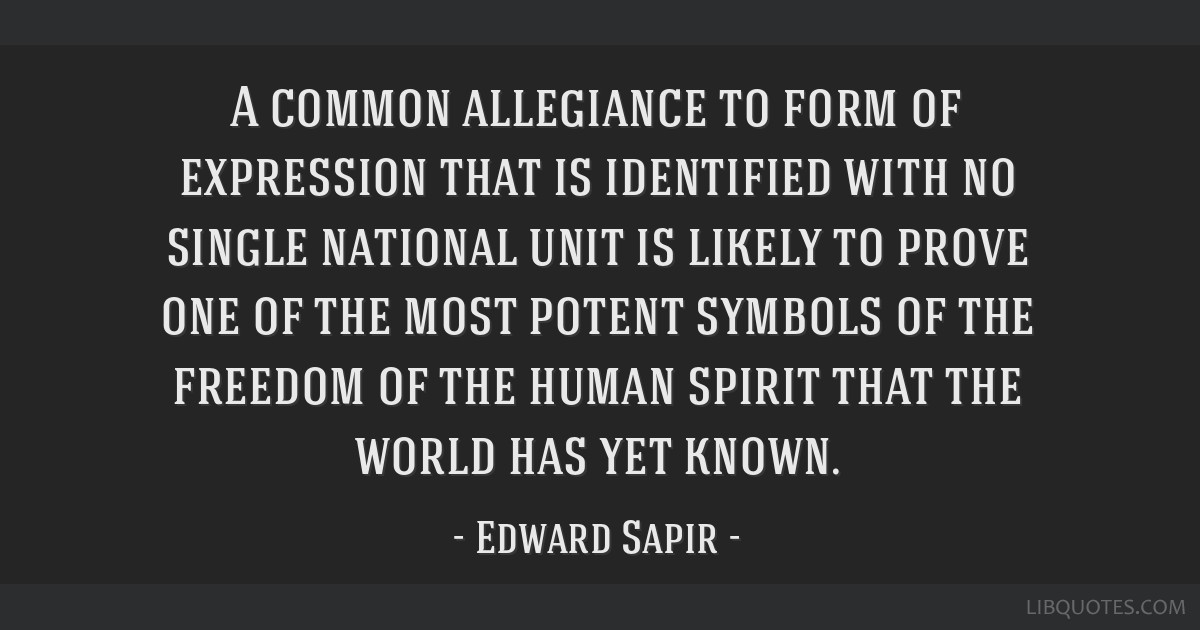 A common allegiance to form of expression that is identified with no single national unit is likely to prove one of the most potent symbols of the...