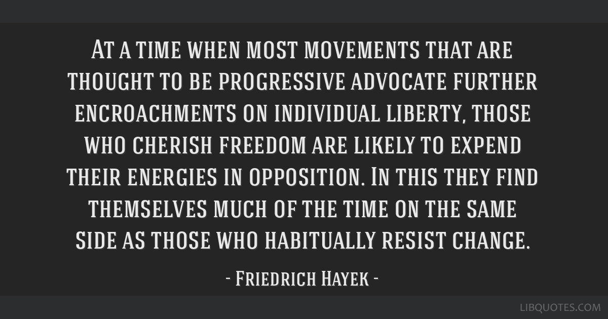 At a time when most movements that are thought to be progressive advocate further encroachments on individual liberty, those who cherish freedom are...