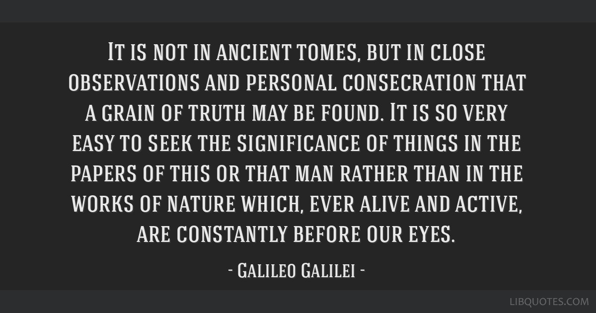 It is not in ancient tomes, but in close observations and personal consecration that a grain of truth may be found. It is so very easy to seek the...