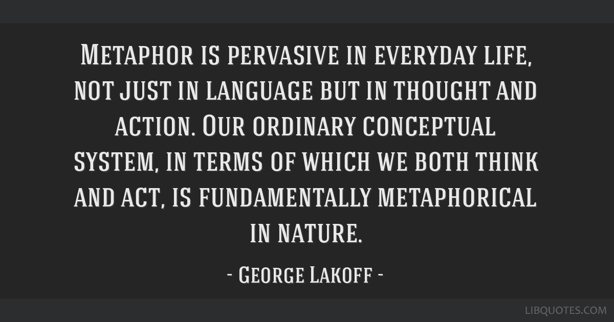 Metaphors Of Everyday Life Many Lives >> Metaphor Is Pervasive In Everyday Life Not Just In Language But In