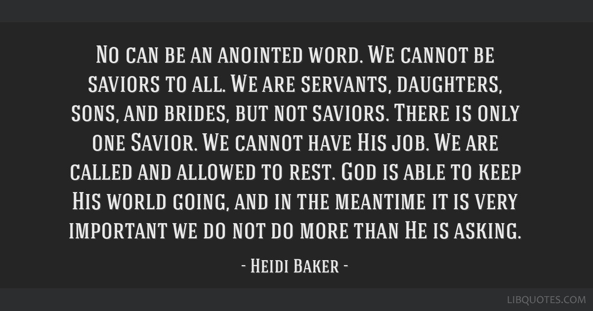 No An Anointed Word